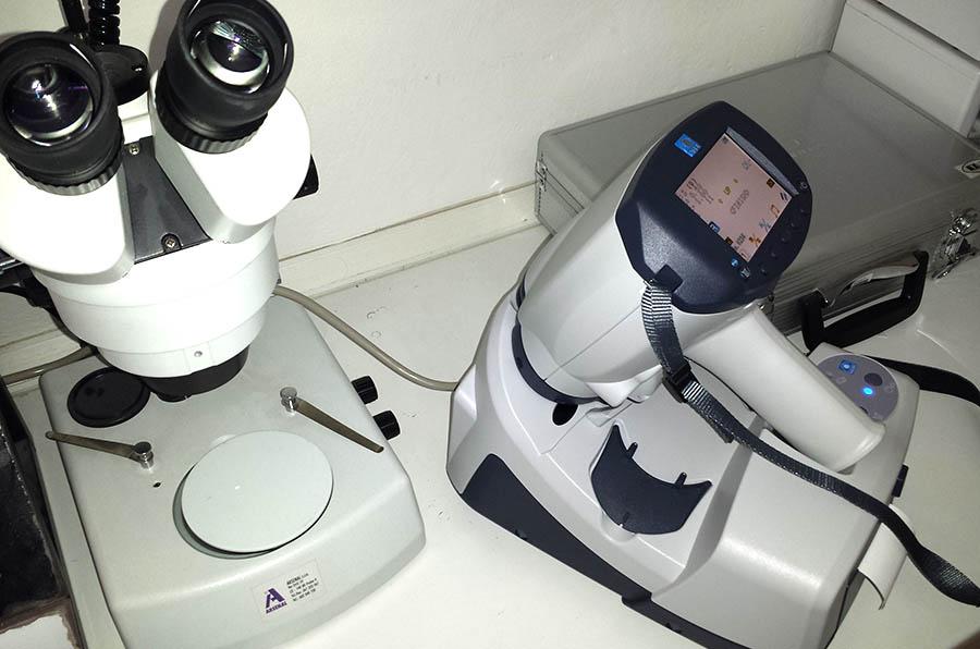 prístroj vyšetrenie šedého zákalu